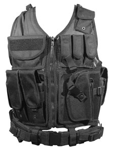 UTG Tactical Vest with Crossdraw Holster