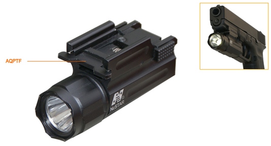 NC Star Tactical Flashlight w/ Rail Mount AQPTF