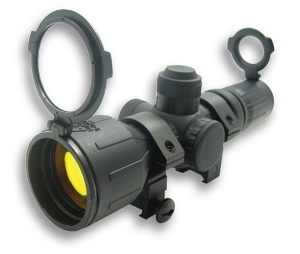 NcSTAR Rubber Armored 3-9x42 Scope w/ Illuminated Sniper Reticle and WEAVER MOUNT  SEECR3942R