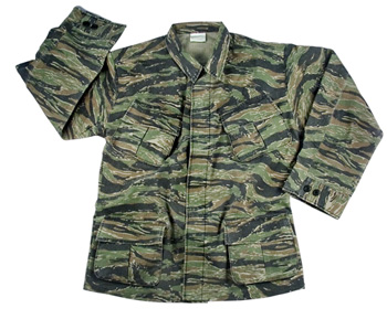 Vietnam Era OD Tiger Stripe Fatigue Jacket airsoft