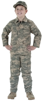 Kids Boys Army Combat Uniform ACU Pants
