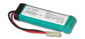 Battery NiMh 8.4volt 1400Mah Small Clip AEG