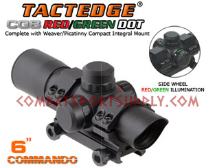 Leapers TactEdge Commando Red / Green Dot 6""