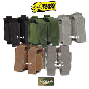 VooDoo Tactical Double 40mm Grenade Pouch Molle