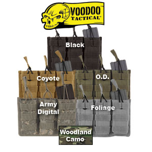 VooDoo Tactical M-4 Open Top Triple Mag Pouch