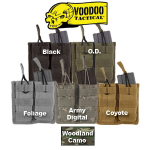 VooDoo Tactical M-4 Open Top Double Mag Pouch