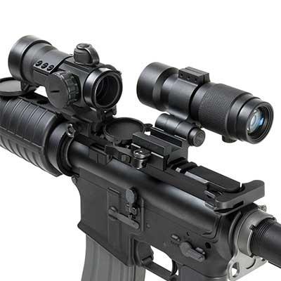 Ncstar 3x Magnifier W Flip To Side Qr Mount