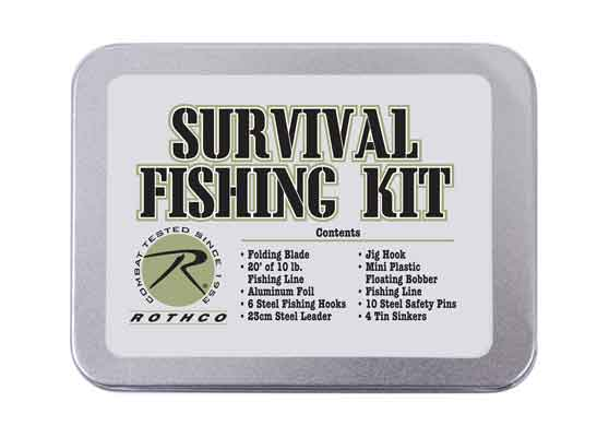 Css rothco survival fishing kit for Survival fishing kit