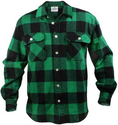 Rothco Extra Heavyweight Buffalo Plaid Flannel Shirts