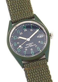 Vietnam Era Reproduction OD Wind up Watch