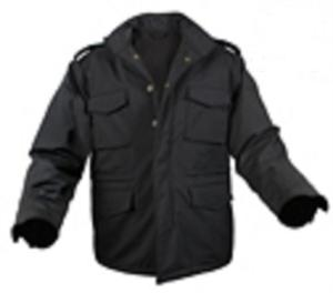 Soft Shell Tactical M-65 Jacket- Black