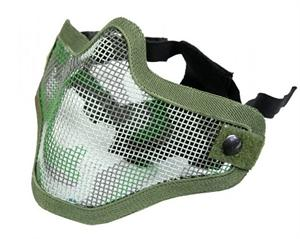 Bravo Face Wire Mesh Mask - Woodland Camo