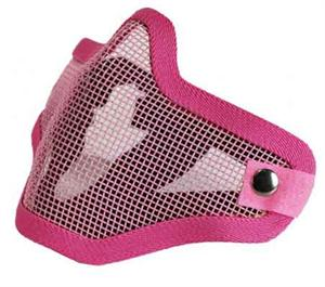 Bravo Strike Steel Half Airsoft Face Mesh Mask PINK
