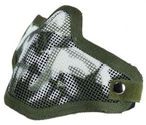 Bravo Mesh Mask SKULL FACE OD Green