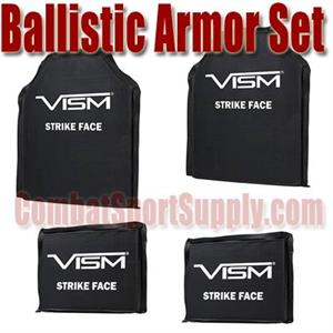 VISM Ballistic Soft Armor Set 10inX12in Plus 6inX8in Side Armor Level IIIA