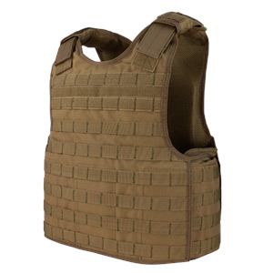 Condor Outdoor Defender Plate Carrier Molle Vest Coyote Brown