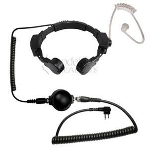 Code Red Throat Mic with PTT -For Kenwood 2 Pin Radios