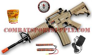 G&G R16 Combat Machine Carbine Desert Tan WARFARE KIT
