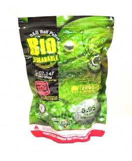 G&G Biodegradable BBs .33g White 2000 Round Bag G-07-203