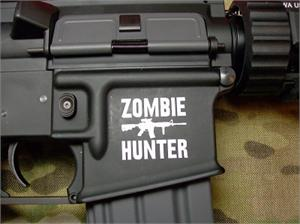 Zombie Hunter M4 AR-15 Body Sticker