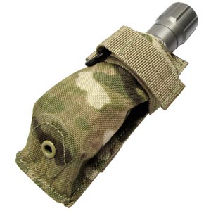 Condor Outdoor Molle Flashlight Pouch w/ Lowlight Cover CRYE Multicam