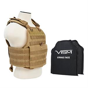 VISM Plate Carrier Vest w/ Ballistic Soft Armor Panels Level IIIA 10X12 Assorted Colors