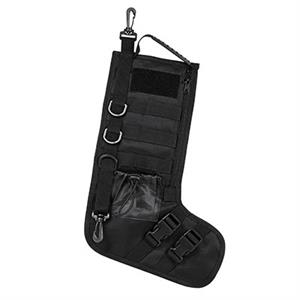 Tactical Molle Christmas Holiday Stocking Black