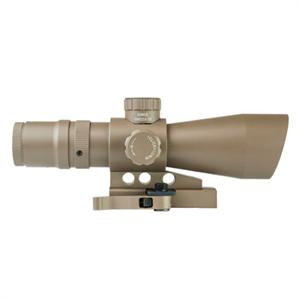 NcSTAR Mark III Tactical 4x32 Scope w/ Blue / Green P4 Sniper Reticle / QR TAN