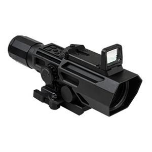 NcStar VISM ADO 3-9X42 Scope w/ Flip Up Red Dot Optic Black VADOBP3942G