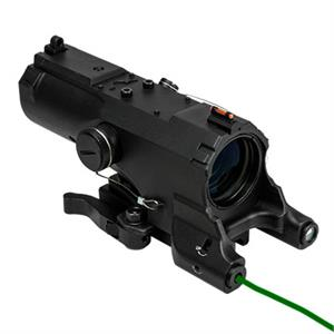 NcSTAR VISM ECO 4X34 Scope w/ Green Laser & NAV LED / Black MOD2 VECO434QRBM2