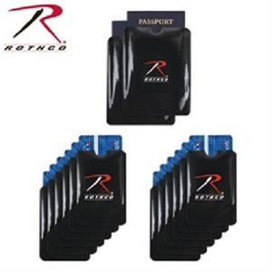 Rothco RFID Blocking Credit Card & Passport Sleeve 12 pack