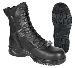 Rothco Forced Entry Tactical Boot With Side Zipper and composite toe 8in Black