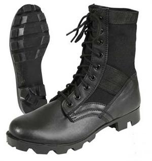 Vietnam Style Jungle Boots Black with Panama Sole