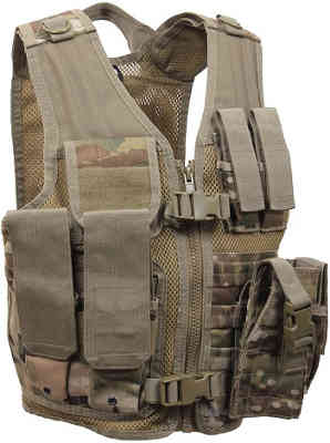 Youth Sized Tactical Cross Draw Vest MultiCam