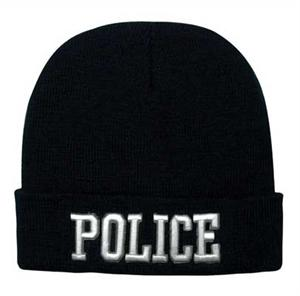 Police Embroidered Watch Cap