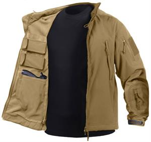 Rothco Concealed Carry Soft Shell Jacket Coyote Brown 55485