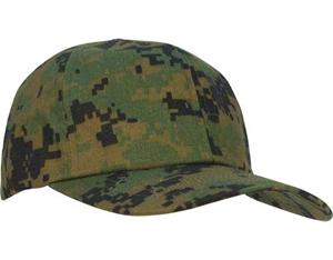 Kid's Adjustable Camo Cap - Woodland Digital Camo