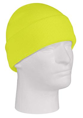 Safety Green Fine Knit Watch Cap
