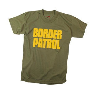 Border Patrol T-Shirt Double Sided Black