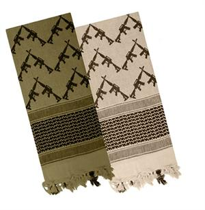 Shemagh / Woven Coalition Desert Crossed M4 Rifles