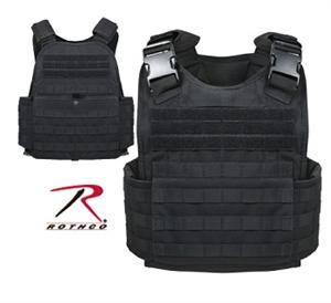 Rothco Molle Plate Carrier Vest Black 8922