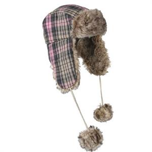 Rothco Plaid Fur Flyer's Hat Pink