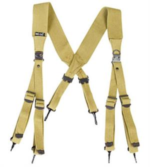 WWII US M1936 Khaki Webbing Suspenders Reproduction