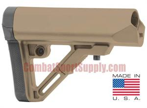 UTG PRO AR15 / M4 S1 Mil-Spec Collapsible Stock FDE BUS1DMS