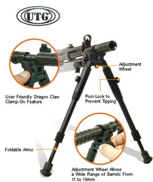 UTG Dragon Claw Clamp-on Bipod