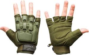 Half Finger Plastic Back Gloves