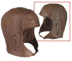 Rothco Leather Pilots Helmet Brown