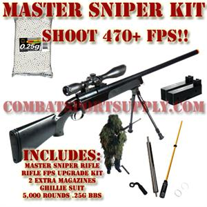 UTG M700 Master Sniper Airsoft Rifle Gen 5 Upgraded Deluxe Combo Kit