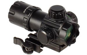 "UTG 3.9"" ITA Red / Green Dot Sight with QD Mounts"