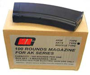 MAG AK74 Standard Mags Black 5-pack 100round